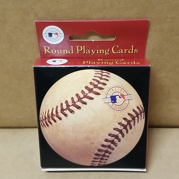 Baseball Round Playing Cards